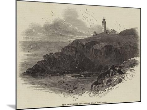 New Lighthouse on Trevose Head, Cornwall--Mounted Giclee Print