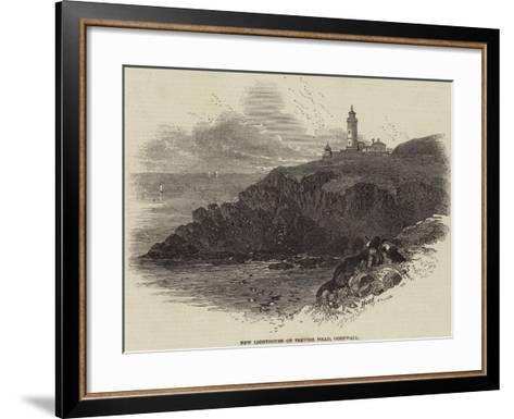 New Lighthouse on Trevose Head, Cornwall--Framed Art Print