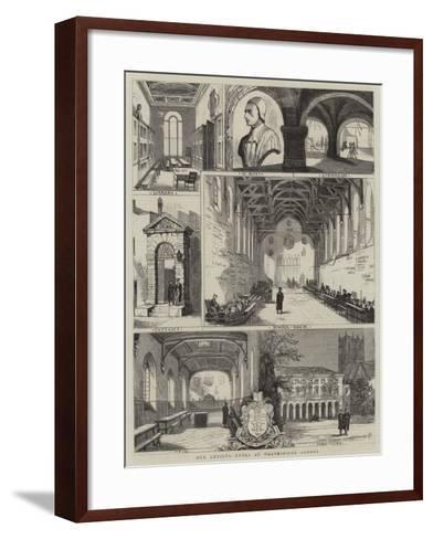 Our Artist's Notes at Westminster School--Framed Art Print