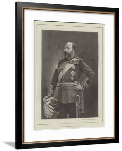 His Royal Highness the Prince of Wales--Framed Art Print