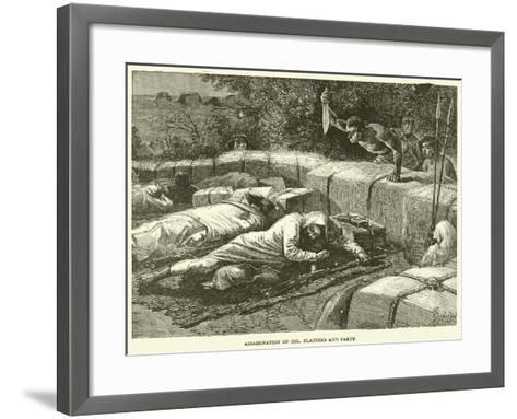 Assassination of Col Flatters and Party--Framed Art Print