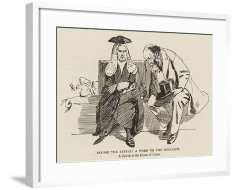 Before the Battle, a Word on the Woolsack--Framed Art Print