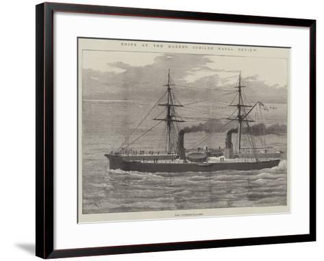 Ships at the Queen's Jubilee Naval Review--Framed Art Print