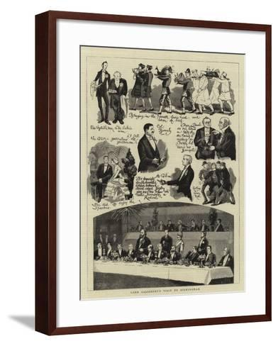 Lord Salisbury's Visit to Birmingham--Framed Art Print