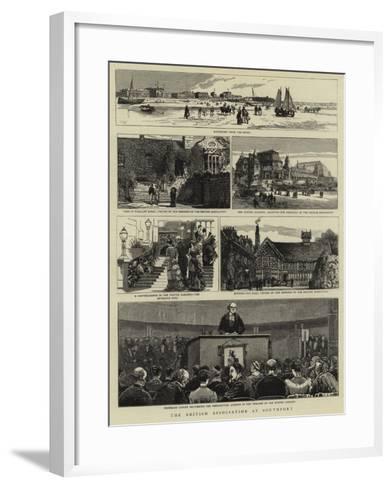 The British Association at Southport--Framed Art Print