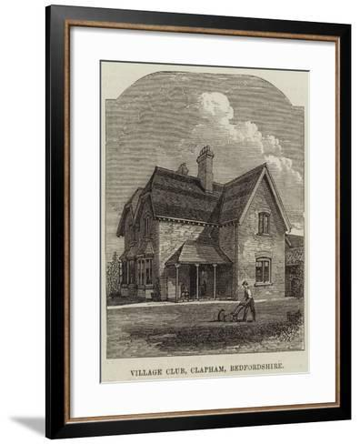 Village Club, Clapham, Bedfordshire--Framed Art Print