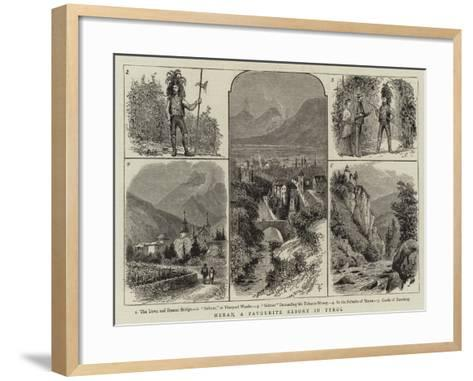 Meran, a Favourite Resort in Tyrol--Framed Art Print