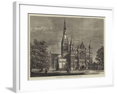 Salisbury Cathedral, North-West View--Framed Art Print