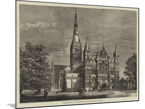 Salisbury Cathedral, North-West View--Mounted Giclee Print