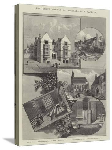 The Great Schools of England, Harrow--Stretched Canvas Print