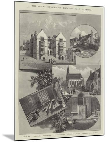 The Great Schools of England, Harrow--Mounted Giclee Print