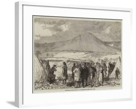 Volunteer Rifle-Match at Folkestone--Framed Art Print