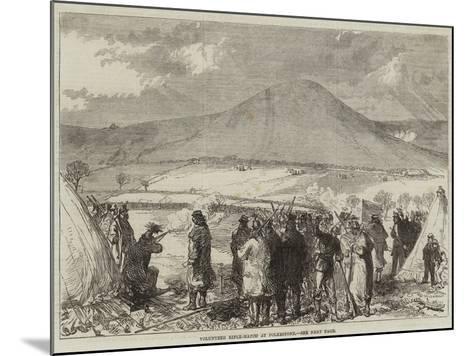 Volunteer Rifle-Match at Folkestone--Mounted Giclee Print