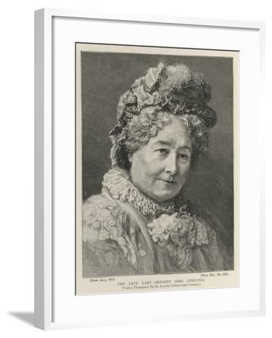 The Late Lady Gregory, Mrs Stirling--Framed Art Print