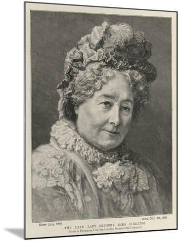 The Late Lady Gregory, Mrs Stirling--Mounted Giclee Print
