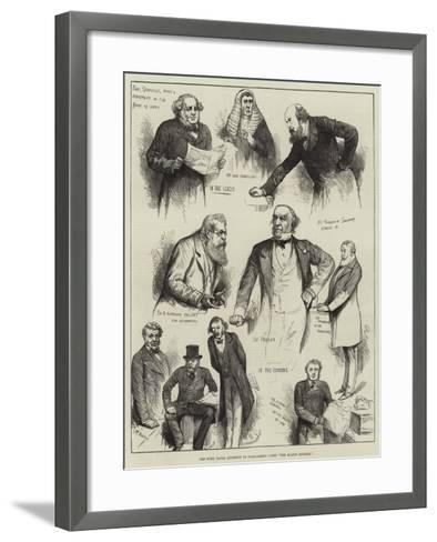The Suez Canal Question in Parliament--Framed Art Print