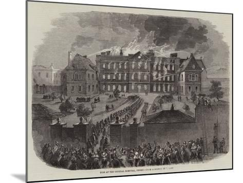 Fire at the General Hospital, Jersey--Mounted Giclee Print