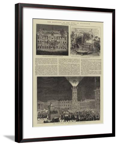 The Marriage of the Duke of Edinburgh--Framed Art Print