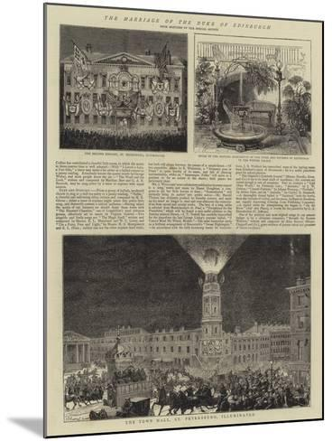 The Marriage of the Duke of Edinburgh--Mounted Giclee Print