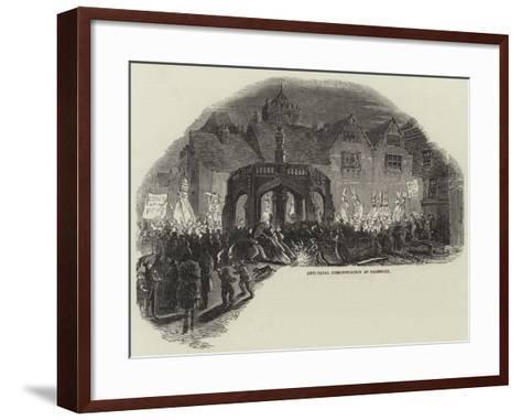 Anti-Papal Demonstration at Salisbury--Framed Art Print