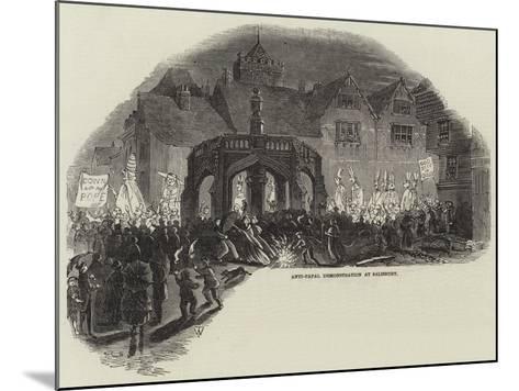 Anti-Papal Demonstration at Salisbury--Mounted Giclee Print