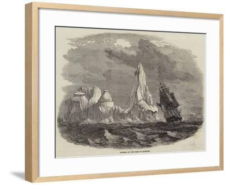 Icebergs Off the Coast of Labrador--Framed Art Print