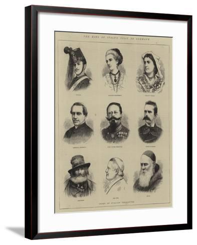 The King of Italy's Visit to Germany--Framed Art Print