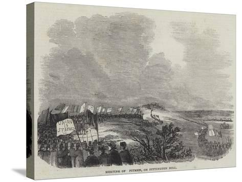 Meeting of Pitmen, on Pittington Hill--Stretched Canvas Print