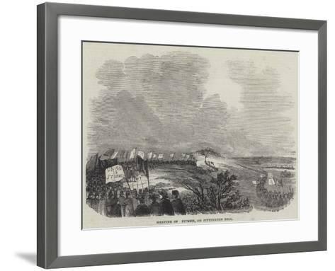 Meeting of Pitmen, on Pittington Hill--Framed Art Print