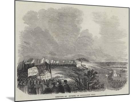 Meeting of Pitmen, on Pittington Hill--Mounted Giclee Print
