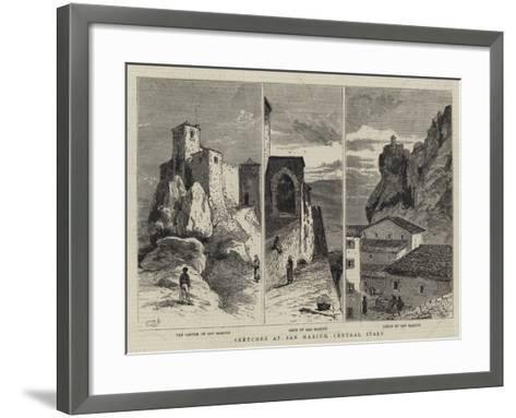 Sketches at San Marino, Central Italy--Framed Art Print