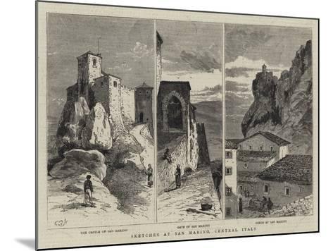 Sketches at San Marino, Central Italy--Mounted Giclee Print