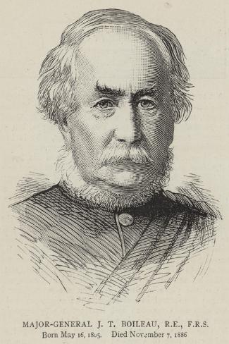 Major-General J T Boileau, Re, Frs--Stretched Canvas Print