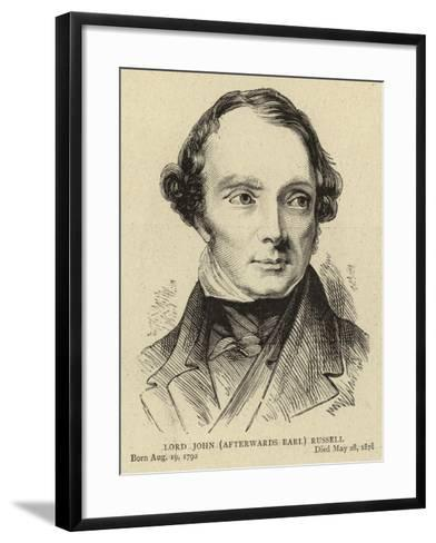 Lord John (Afterwards Earl) Russell--Framed Art Print