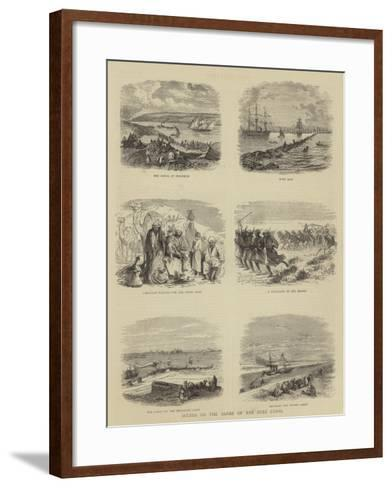 Scenes on the Banks of the Suez Canal--Framed Art Print
