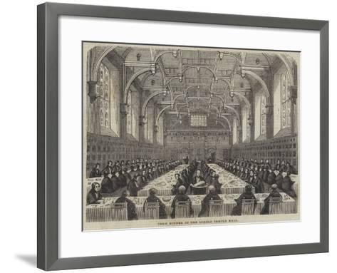 Term Dinner in the Middle Temple Hall--Framed Art Print