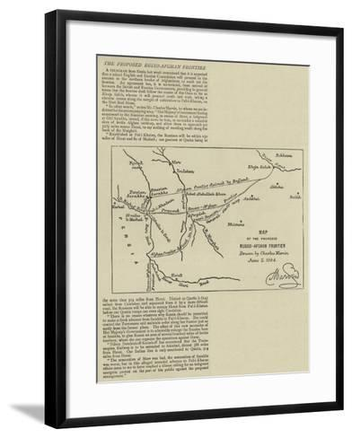 The Proposed Russo-Afghan Frontier--Framed Art Print