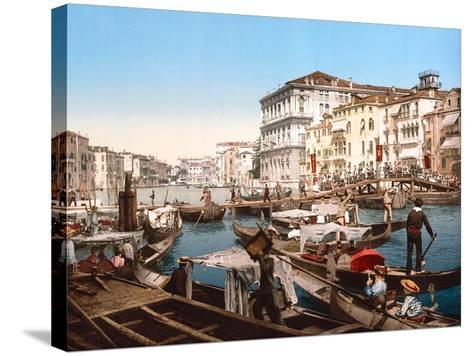 Processione Sul Canal Grande, Venice--Stretched Canvas Print