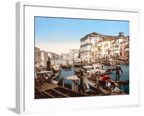 Processione Sul Canal Grande, Venice--Framed Art Print