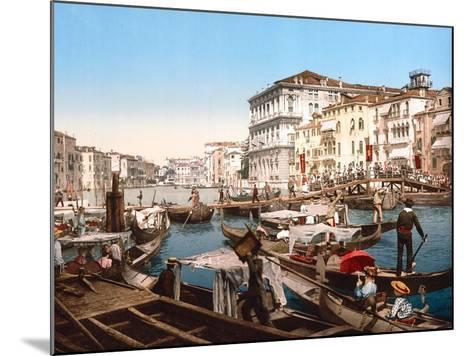 Processione Sul Canal Grande, Venice--Mounted Giclee Print