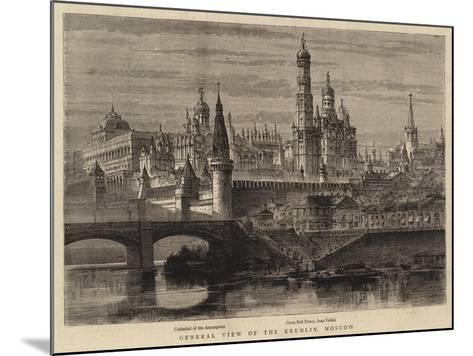 General View of the Kremlin, Moscow--Mounted Giclee Print