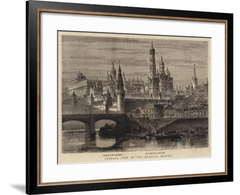 General View of the Kremlin, Moscow--Framed Art Print