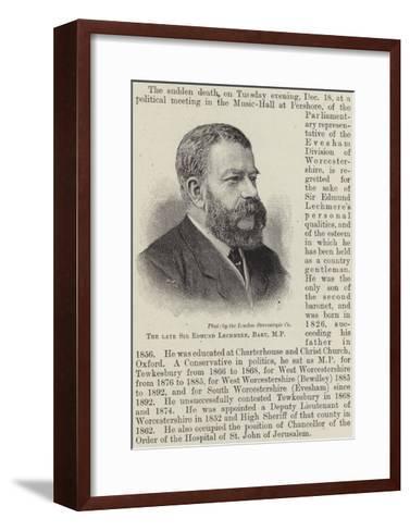 The Late Sir Edmund Lechmere, Baronet--Framed Art Print