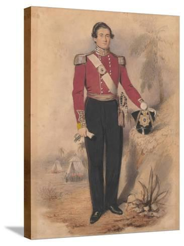 Officer of a Battalion Company, 1840--Stretched Canvas Print