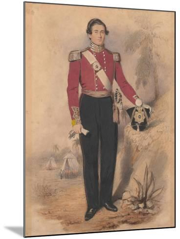 Officer of a Battalion Company, 1840--Mounted Giclee Print
