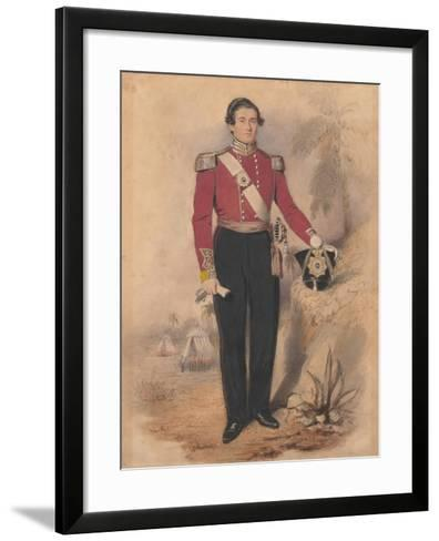 Officer of a Battalion Company, 1840--Framed Art Print