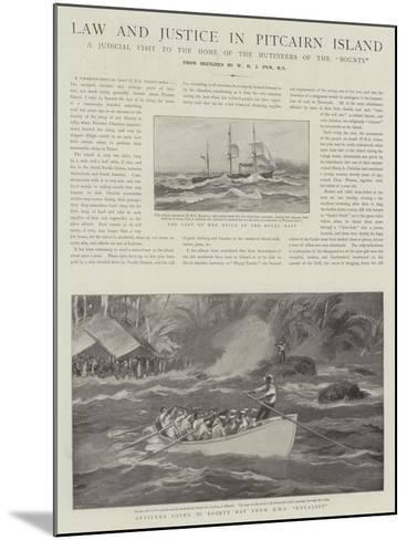 Law and Justice in Pitcairn Island--Mounted Giclee Print