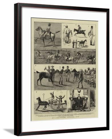 At a Race-Meeting, Feverabad, India--Framed Art Print