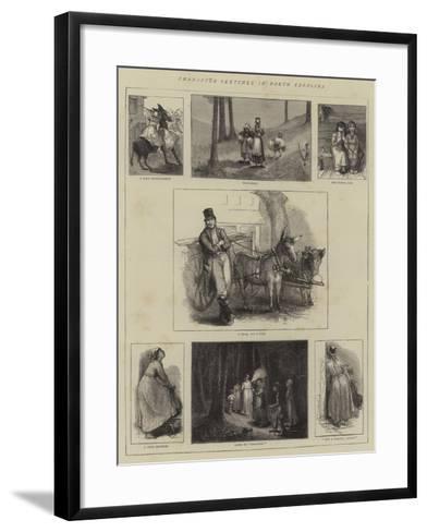 Character Sketches in North Carolina--Framed Art Print