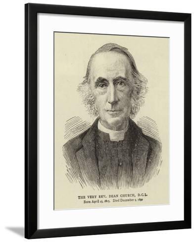 The Very Reverend Dean Church, DCL--Framed Art Print